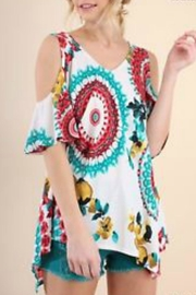 Umgee USA Cut-Out Shoulder Top - Product Mini Image