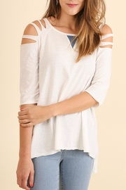 Umgee USA Cutout Sleeve Top - Product Mini Image