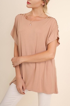 Shoptiques Product: Cutout Sleeves Top