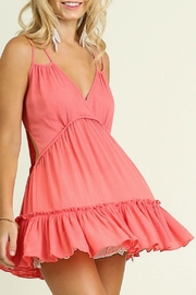Umgee USA Deep V With Ruffle - Front full body