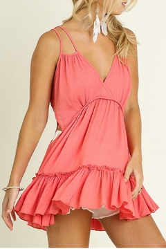 Shoptiques Product: Deep V With Ruffle