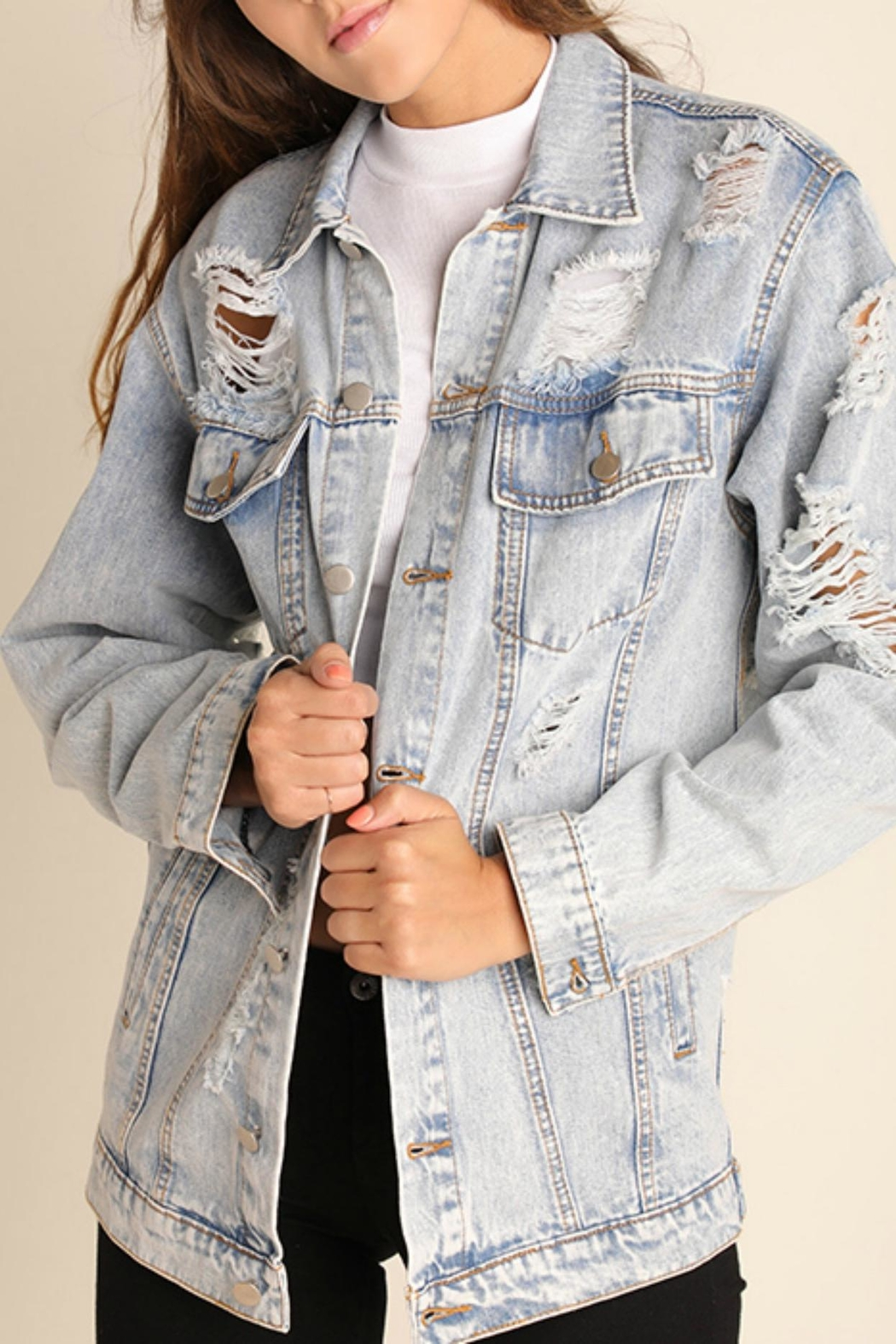 Umgee USA Denim Jacket - Front Cropped Image