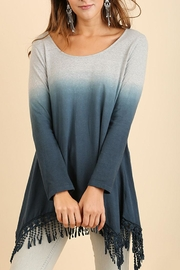 Umgee USA Dip-Dye Fringed Tunic - Front cropped