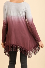 Umgee USA Dip-Dye Fringed Tunic - Side cropped