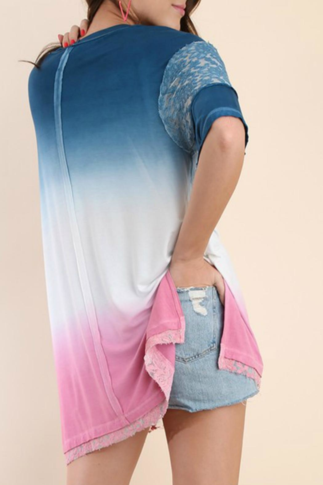 Umgee USA Dip Dye Tunic - Back Cropped Image