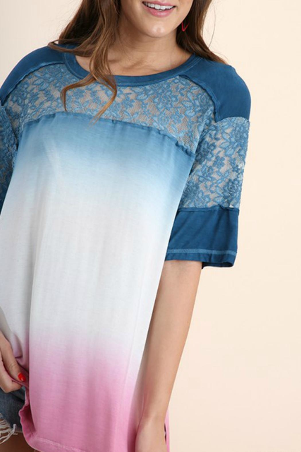 Umgee USA Dip Dye Tunic - Side Cropped Image