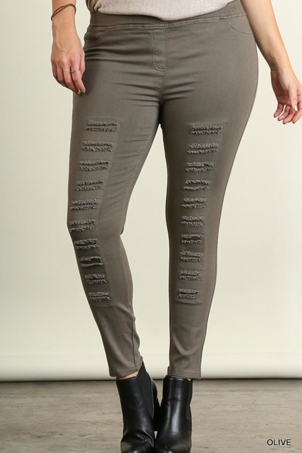 Umgee USA Distressed Jegging - Main Image