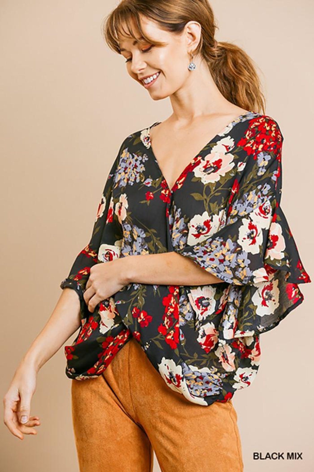 Umgee USA Dolman Sleeve V-Neck - Main Image