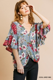 Umgee USA Dolman Sleeve V-Neck - Front cropped