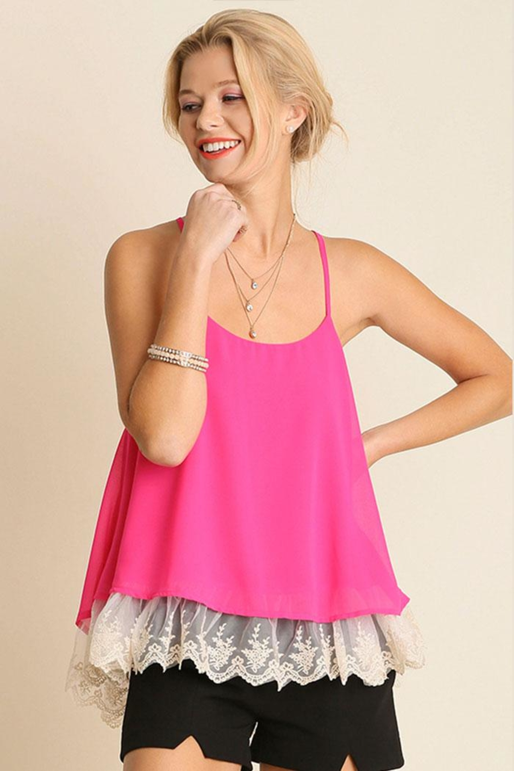 Umgee USA Double Layered Tank-Top - Front Cropped Image