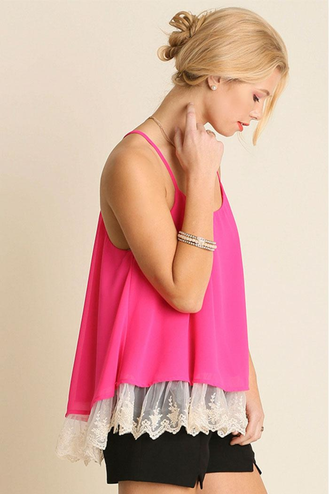 Umgee USA Double Layered Tank-Top - Front Full Image