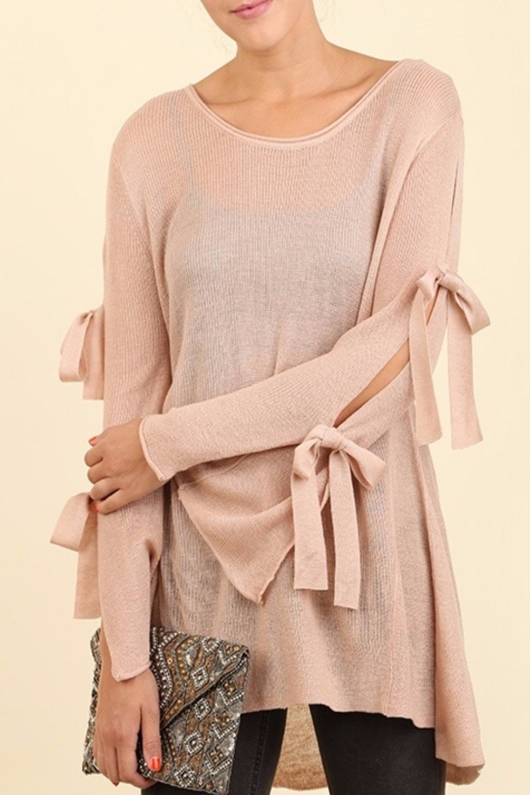 Umgee USA Dusty Rose Blouse - Front Cropped Image