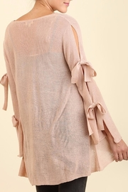 Umgee USA Dusty Rose Blouse - Front full body