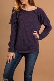 Umgee USA Eggplant Top - Product Mini Image