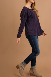 Umgee USA Eggplant Top - Front full body
