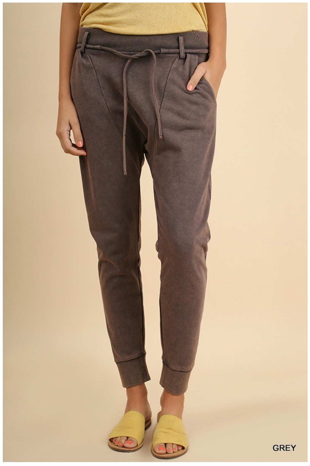 Umgee USA Elastic Joggers - Front Cropped Image