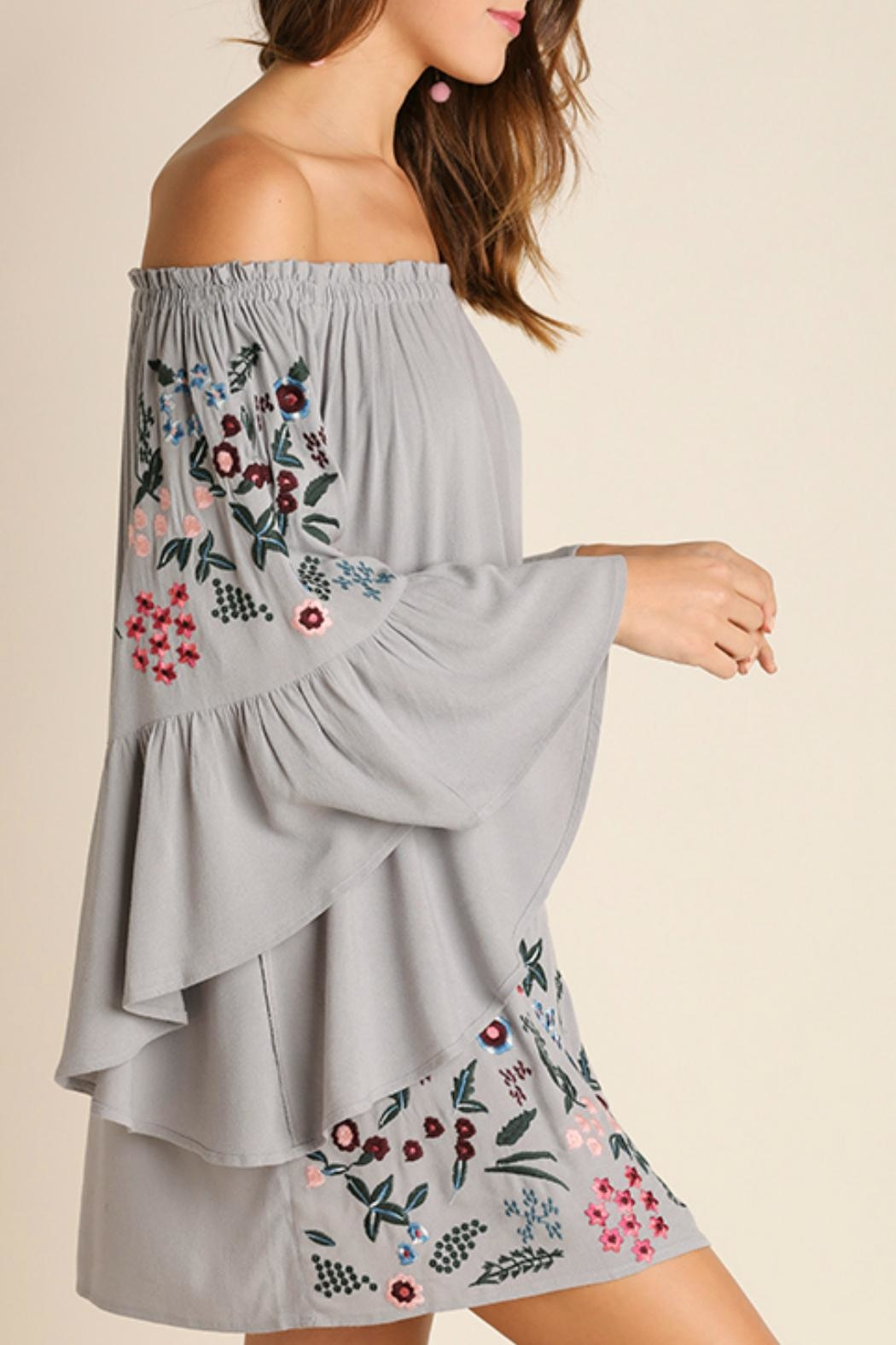 Umgee USA Embroidered Dress - Front Cropped Image