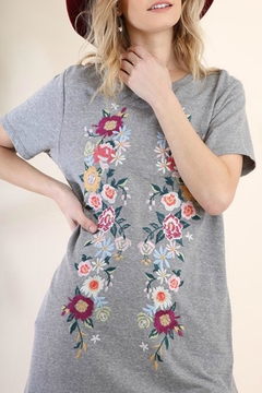 Shoptiques Product: Embroidered Knit T-Dress