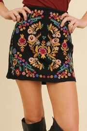 Umgee USA Embroidered Mini Skirt - Product Mini Image