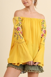 Umgee USA Embroidered Off Shoulder - Front cropped