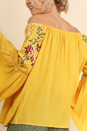 Umgee USA Embroidered Off Shoulder - Front full body