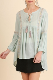 Umgee USA Embroidered Peasant Top - Product Mini Image