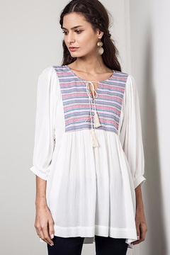 Shoptiques Product: Embroidered Peasant Tunic