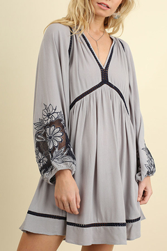 Shoptiques Product: Embroidered Puff Sleeve Dress