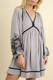 Umgee USA Embroidered Puff Sleeve Dress - Product Mini Image