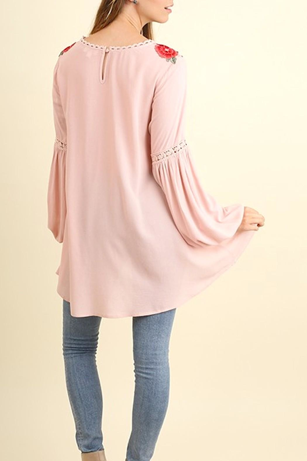 Umgee USA Embroidered Puff Sleeve - Side Cropped Image