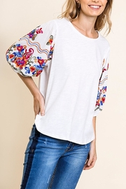 Umgee USA Embroidered Sleeve Top - Product Mini Image
