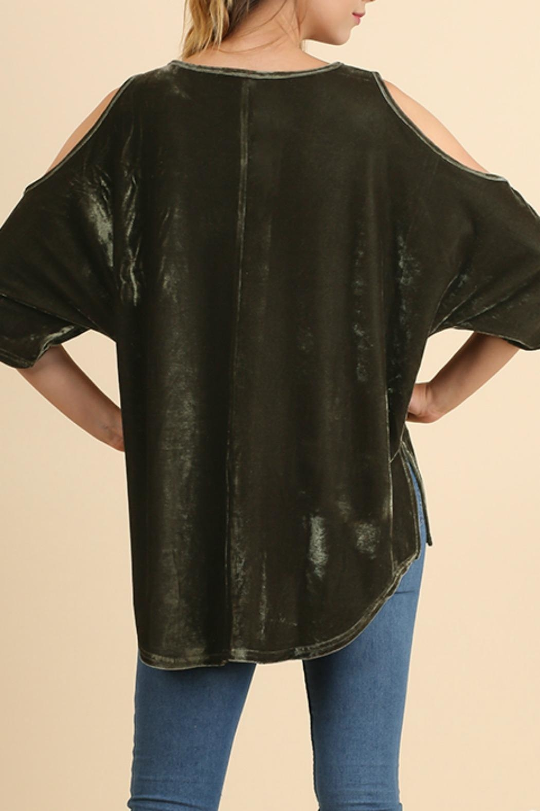 Umgee USA Embroidered Velvet Top - Side Cropped Image