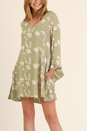 Umgee USA Embroidery A Line Dress - Front full body