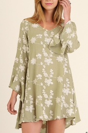 Umgee USA Embroidery A Line Dress - Front cropped