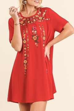 Umgee USA Emily Embroidered Dress - Product List Image