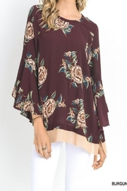 Umgee USA Fall Floral Bell Sleeve Top - Product Mini Image