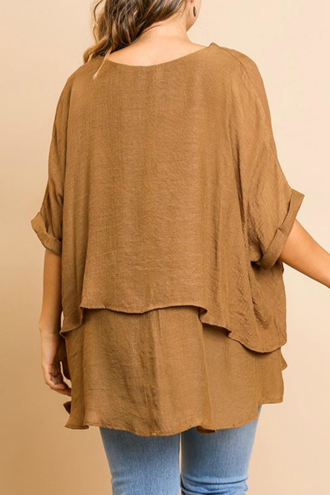 Umgee USA Fall's Layered Tunic - Back Cropped Image