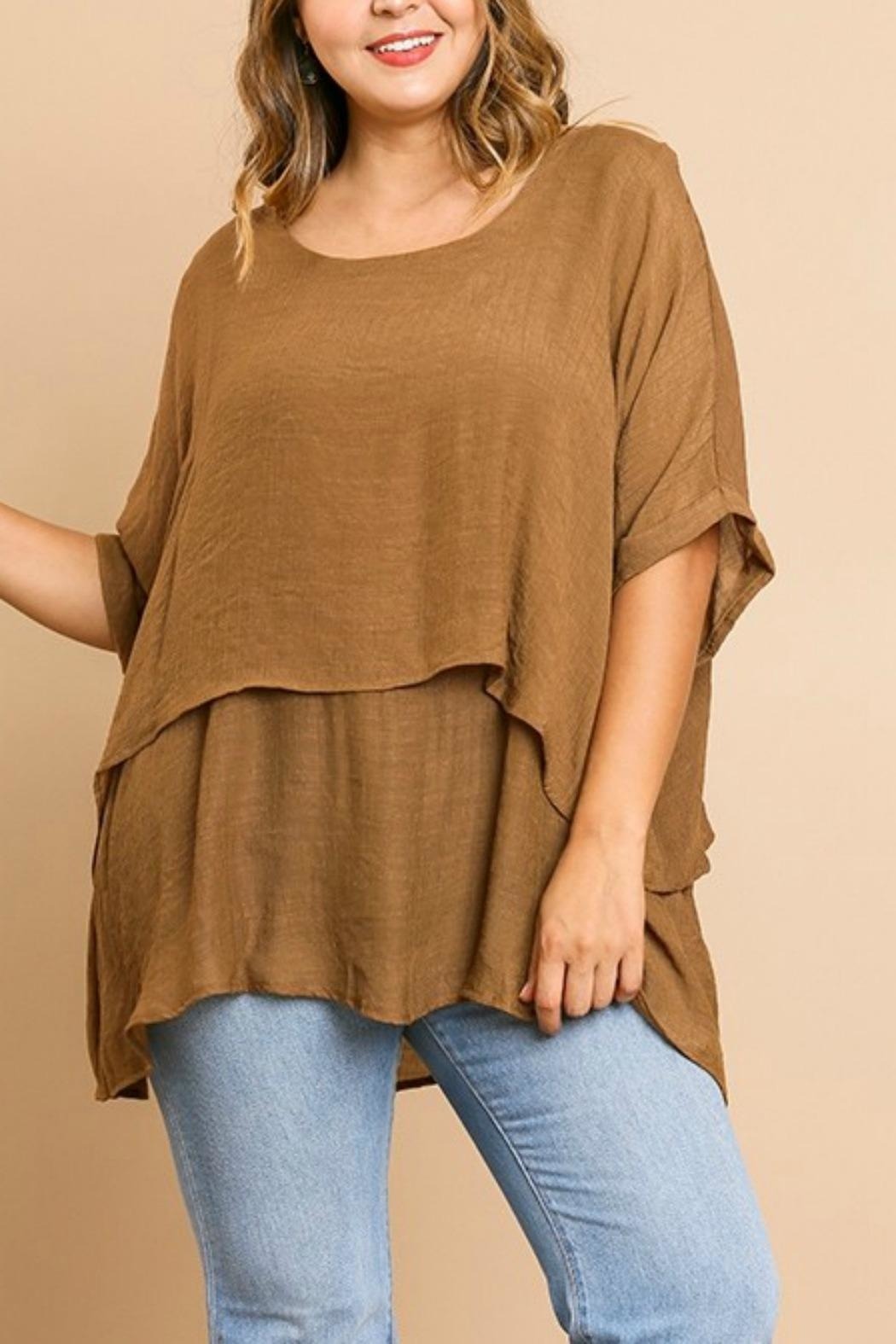 Umgee USA Fall's Layered Tunic - Front Cropped Image