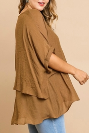 Umgee USA Fall's Layered Tunic - Front full body