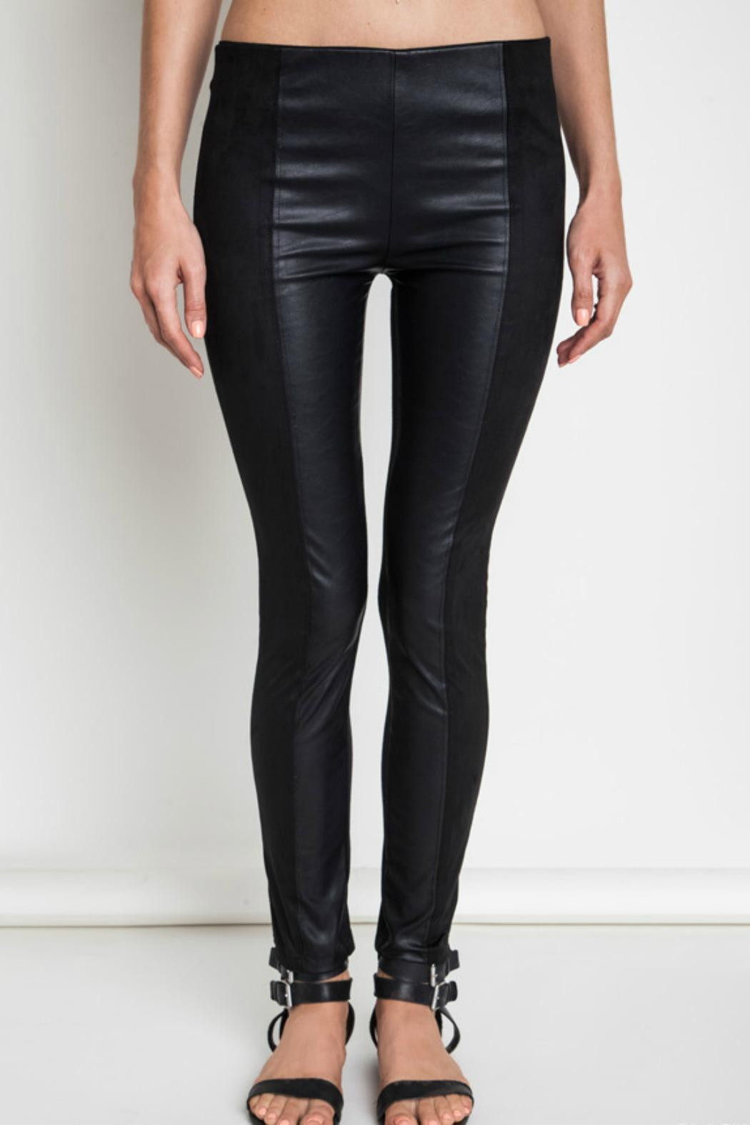 Umgee USA Faux Leather Leggins - Front Full Image