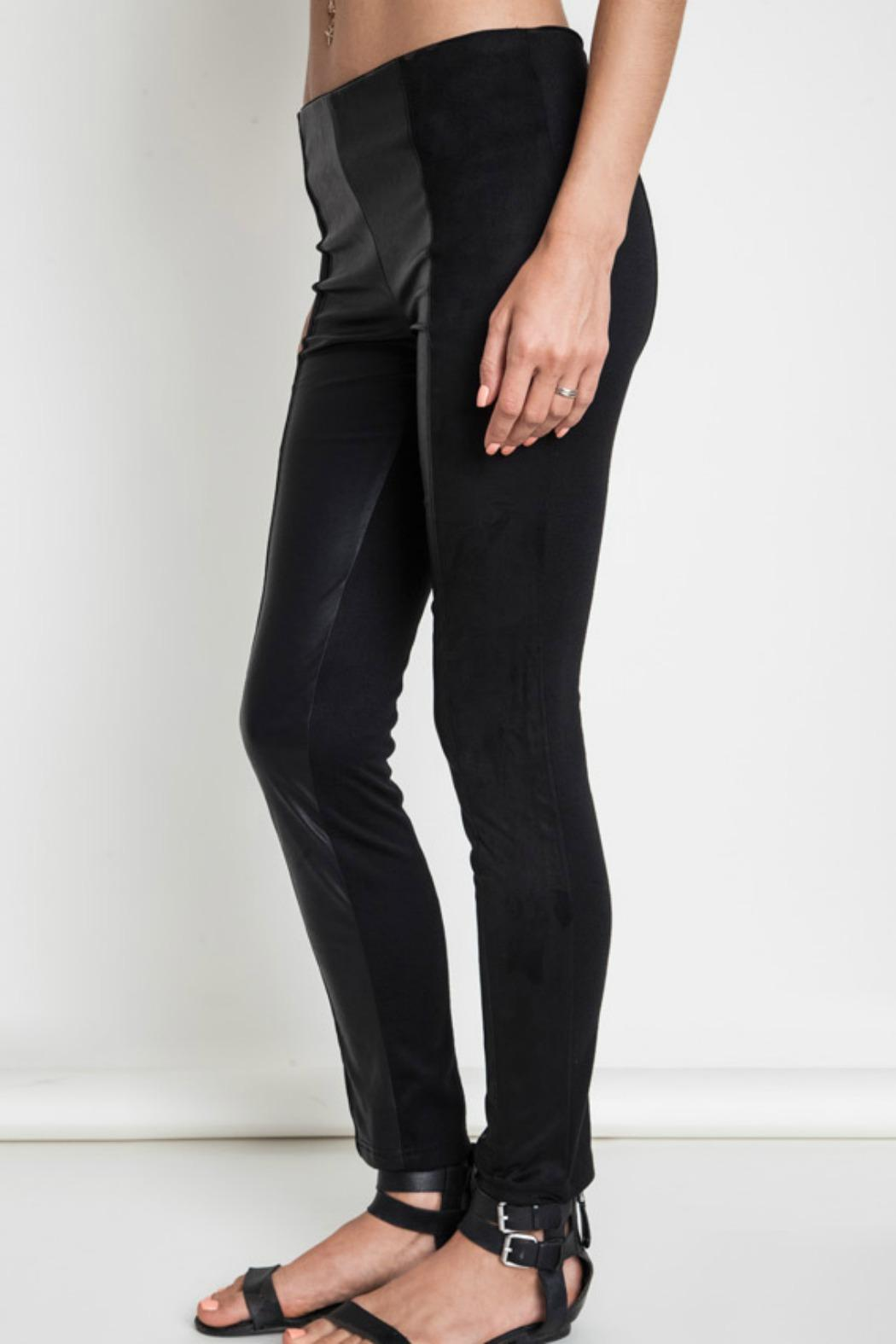 Umgee USA Faux Leather Leggins - Front Cropped Image