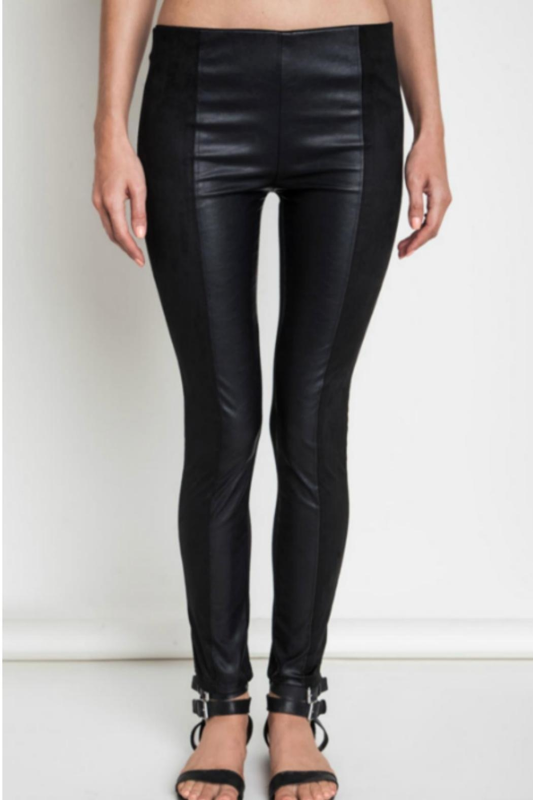 Umgee USA Faux Leather/suede Leggings - Main Image