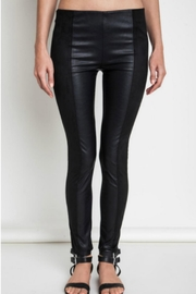 Umgee USA Faux Leather/suede Leggings - Front cropped