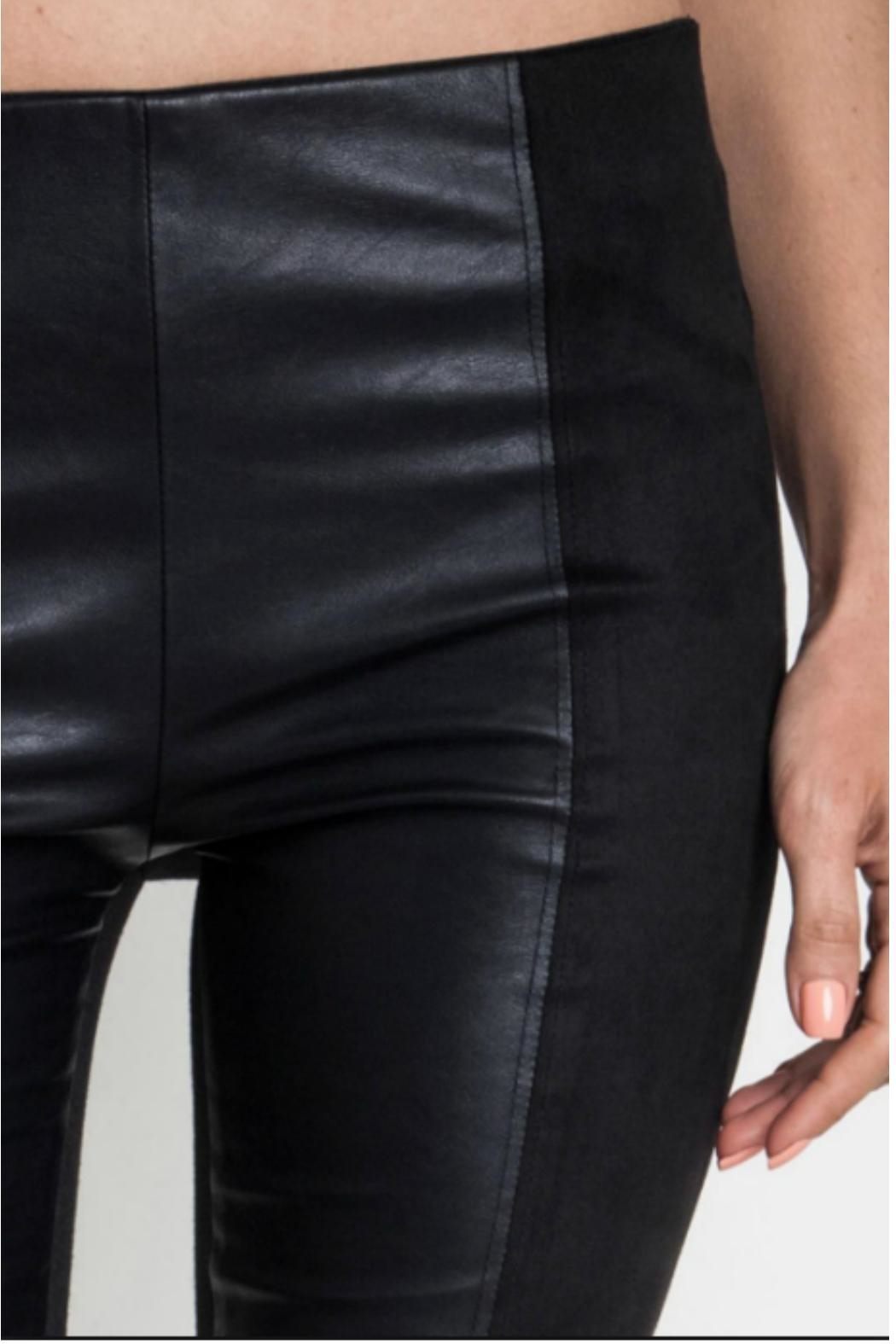 Umgee USA Faux Leather/suede Leggings - Front Full Image
