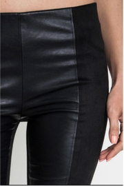 Umgee USA Faux Leather/suede Leggings - Front full body