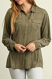 Umgee USA Faux Suede Blouse - Product Mini Image