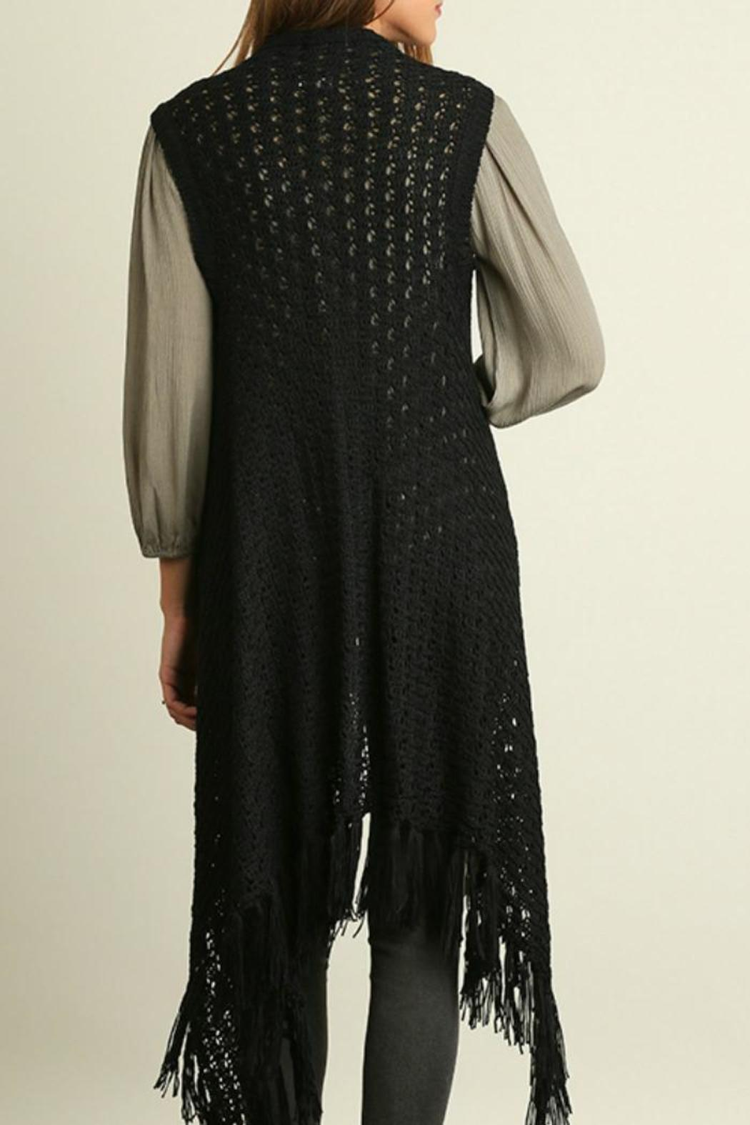 Umgee USA Fearless In Fringe Vest - Front Full Image