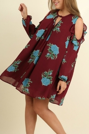 Umgee USA Floral A-Line Dress - Front full body