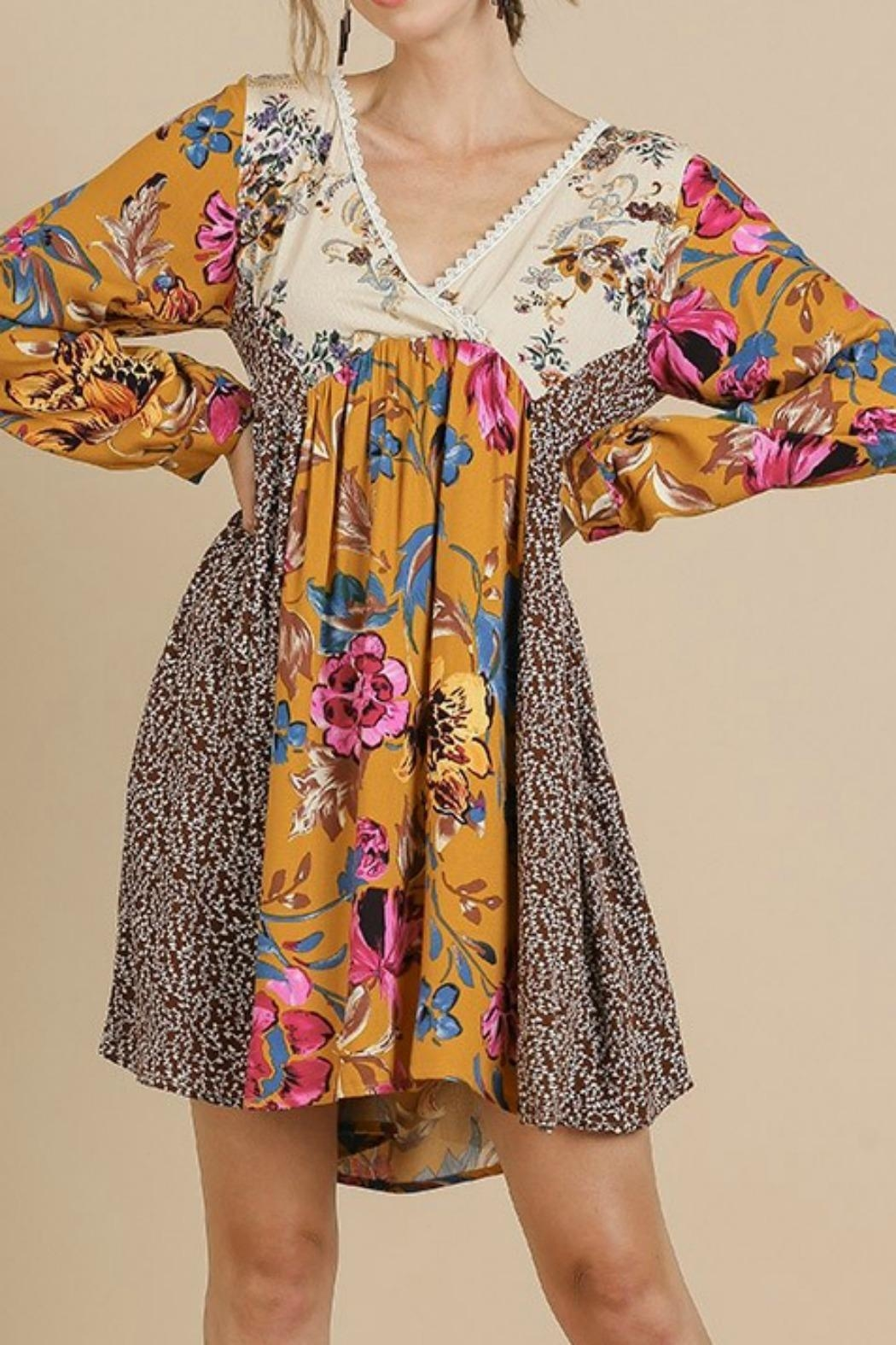 Umgee USA Floral Baby Doll - Front Full Image