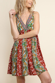 Umgee USA Floral Baby Doll Dress - Product Mini Image